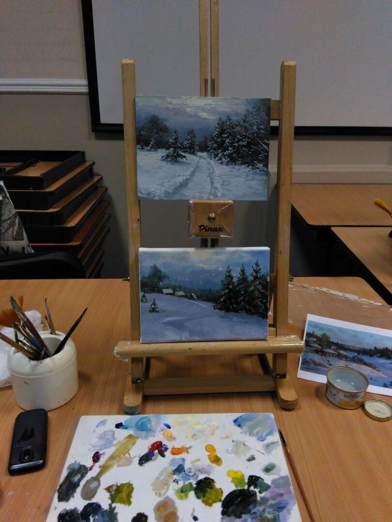 Отчетная выставка Школы Живой Живописи «Зажигая звезды». Мастер-классы по живописи по субботам. 14 – 21 декабря