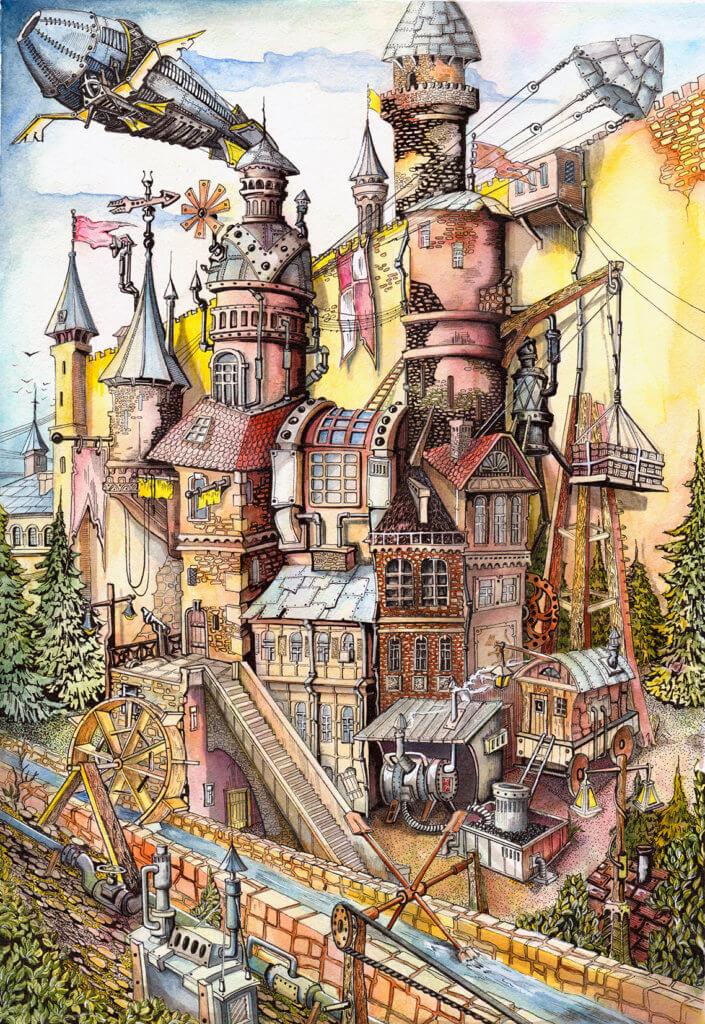 Выставка «Двадцатый год начинается» Лев Колов. Графика о городе, горожанах и крысах. Большой зал 14  – 29 марта
