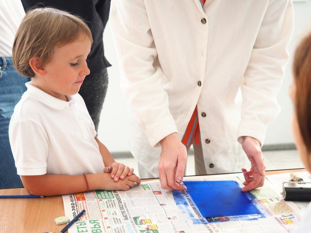 Мастер-класс Екатерины Федуловой по печатным техникам с использованием офортного станка
